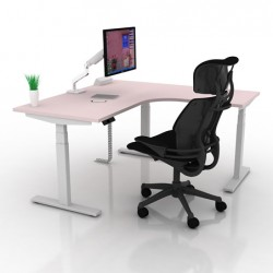 Dynamic Smart Electric Height Adjustable Table L-Shape